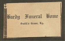 VINTAGE AD CLIPPED FROM NEWSPAPER - HARDY FUNERAL HOME SMITHS GROVE, KY -1939
