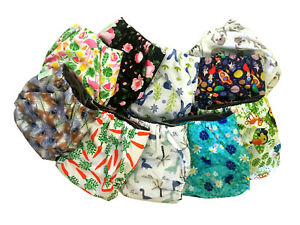 Re-usable Cloth Nappies Eco-Friendly with Bamboo Liner & Layered Insert