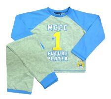 Chicos 4/5 Años Manchester City Pijama Fútbol Set Bottoms Top Kids Pijamas Hombre