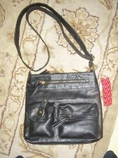 BNWT AMERICAN EAGLE BLK FAUX LEATHER SHOULDER BAG ZIP MANY POCKETS RET   29.99 5e478be607ff3