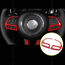 2x red ABS Interior Steering wheel cover trim for Jeep Compass 2017 2018