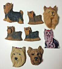 Lot of 8 Yorkshire Terrier Dog Yorkie Magnets