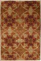 Rugstc 4x6 Senneh Chobi Ziegler Red Area Rug,Natural dye, Hand-Knotted,Wool Pile