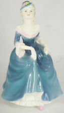Blue Figurine Coalport Porcelain & China