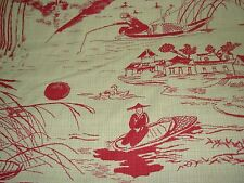 """~BTY~REGAL """"ASIAN ORIENTAL TOILE""""~WOVEN DOUBLESIDED UPHOLSTERY FABRIC FOR LESS~"""