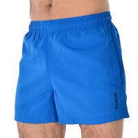 New Mens Reebok Swim Beach Swim Swimming Board Shorts Summer Holidays - Blue