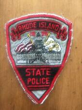 Vintage York Rhode Island State Police Cut Off Patch