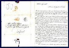 ITALIA - STATO PONTIFICIO - 1851 - Prefilatelica da Roma a Napoli. Doppio cerchi