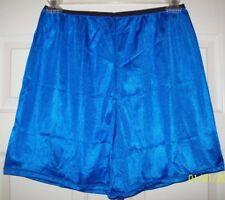 "Royal Blue * NYLON TRICOT * Boxers * Sleep Shorts * INSEAM 6"" * WAIST 28 - 46"""