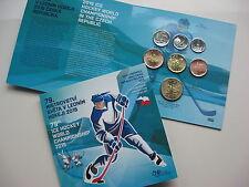TSCHECHIEN 2015 KMS COIN SET ST BU - EISHOCKEY WM IN PRAG 2015 -