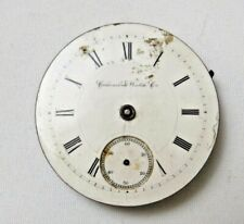 Vtg Columbus Pocket Watch Mixed Parts For Repair As Is