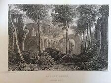C.1830 impression de Netley Abbey looking west, Southampton, Hants