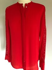 H&M RED BLOUSE SIZE 8