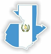 Sticker Silueta Guatemala Mapa Bandera Para Parachoques Guitarra Patineta Locker Tablet