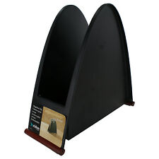 Rolodex Mahogany Wood Base Metal Magazine and File Organizer- ROL23102