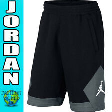 Men's Size Large NIKE AIR JORDAN Varsity Fleece Basketball Shorts Black 724502