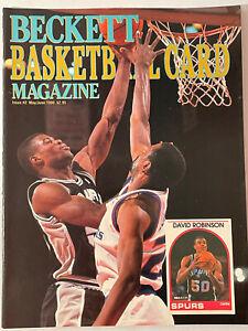 Beckett Basketball Card Monthly May/June  1990 Edition David Robinson Cover