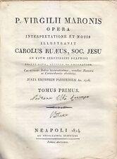 P VIRGILII MARONIS OPERA 2 volumi completa Carolus Ruaeus 1814 Napoli Orsiniana