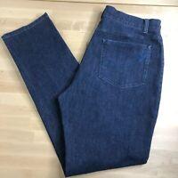 Soft Surroundings Dark Wash Denim Jeans Triple S Women Size 14 Stretchy Slimming