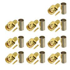 SMA Stecker HF-Steckverbinder RG58 Kabel für Walkie-Talkie Funkantenne 10 Stücke