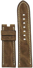 22mm RIOS1931 for Panatime Nat. Vintage Leather Watch Band w White S For Panerai