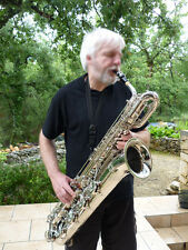 Taishan Prof. Silver nickel Eb Baritone Saxophone German mouthpiece + 2necks