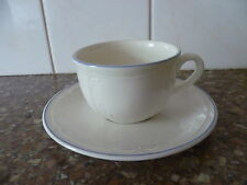 A TEA FOR ONE, CUP & SAUCER DUO, 'CORTINA BLUE'  PATTERN, VILLEROY & BOCH FRANCE