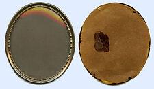 ORIGINAL ANTIQUE MINIATURE BRASS DECORATIVE PICTURE FRAME WITH VONVEX GLASS
