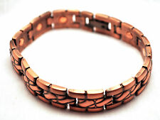 MENS 8.5 IN COPPER ROPE HEALING MAGNETIC THERAPY LINK BRACELET; For Pain!