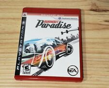 Burnout Paradise (Sony PlayStation 3, 2008) complete game case manual