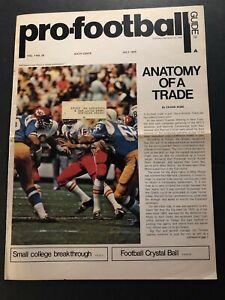 1970 PRO FOOTBALL KANSAS CITY CHIEFS Len DAWSON SAN DIEGO CHARGERS Rare Issue