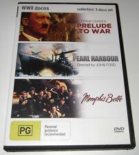 Prelude To War / Pearl Harbour / Memphis Belle (DVD, 2013) WWII documentaries