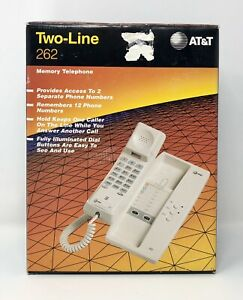 Brand New AT&T Two Line Memory Telephone 262 Open Box