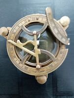 4 Inch Antique Brass Folding Sundial Compass ~ Nautical Maritime ~ Sun Dial
