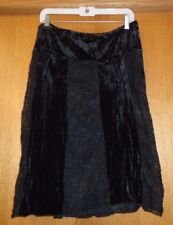 Woman's sz L - Black SKIRT -  Studio Y -  A-line - Goth/Grung style - Great cond