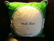 "IKEA Myrlilja Cushion Pillow Green White Black  16 x 16"" With Love Marseille"