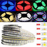 16.4ft 3528 2835 3014 5050 5054 5630 5630 7020 SMD LED Strip Light Flexible 12V