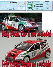Decal 1:43 Cesar Gonzalez Raba - CITROEN C2 S1600 - Rally Villa de Llanes 2007