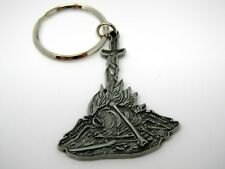Collectible Keychain: Sword in Pile of Bones Fire Design