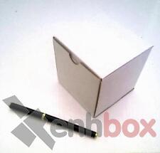 25 Cajas de cartón para envíos postales 9x9x9 cm. Automontables Microcanal blanc