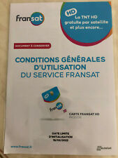 Fransat HD PC6 Carte d'Acces Satellite 5W (EUTELSAT) Initialisation 2022