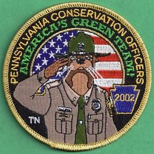 "Pa Fish Game Commission NEW Conservation Officers COPA 2002 Ollie Otter 4"" Patch"