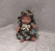 "BERENGUER BABY 5"" Doll Clothes #03 Crochet Dress & Hat Little Darling Set"