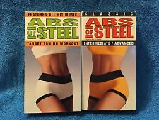 VHS (2) ABS OF STEEL (TARGET TONING WORKOUT & INTERMEDIATE/ADVANCED)