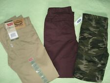 "LOT of 3 Boy's LEVI""S jeans  size12 regular 26L and  2 Old Navy skinny Chino NEW"