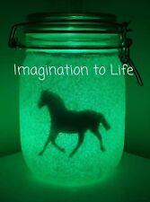 childrens night light jar horse riding pony kids nursery decor bedroom gifts