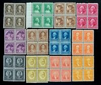 US Stamp SC #704-715 George Washington Bicentennial Block 4 Full Set CV:$106
