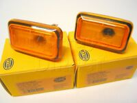 PAIR of Hella German OEM Side Repeater Indicator Lamps VW Mk1 Cabriolet Mk2 Golf