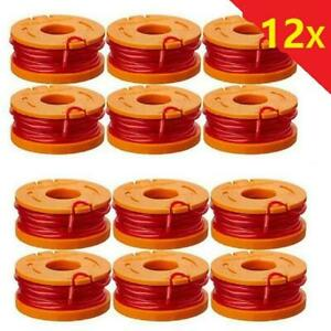 12x For WORX WA0010 Spool Line Grass Trimmer Edger 10ft Replacement WG150 WG165