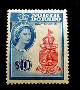 North Borneo SG406 $10 Elizabeth II 1961 unmounted mint CV £55